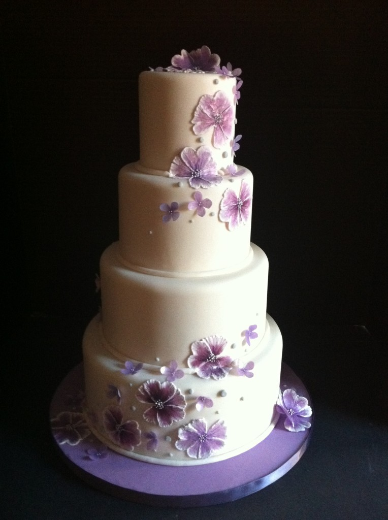 Amazing Wedding Cakes. Pansies Wedding